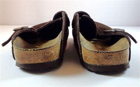 birkenstock closed toe sandals womens birkenstock brown suede closed toe slip on clogs