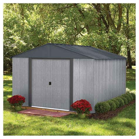Garden Sheds Rona by Storage Shed 10 X 10 Driftwood Steel Grey Rona