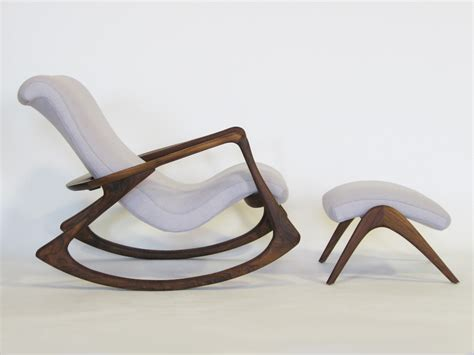 rocking couch chair contour rocking chair and ottoman by vladimir kagan