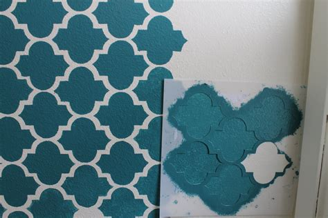 Stencil Stensil Pattern Paint Cetakan wall stencil paint brush with simple blue and white theme design popular home interior decoration