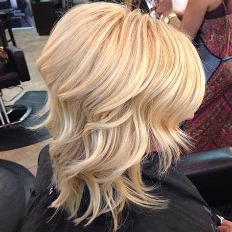 blonde medium length curly hairstyles front and back views 20 popular wavy medium hairstyles hairstyles haircuts
