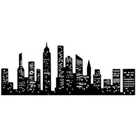 new york city skyline silhouette manhattan tattoo