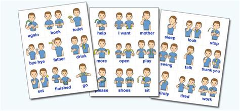 printable flashcards for sign language do2learn march 2012
