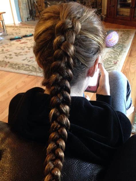 thai reverse french braid   friend