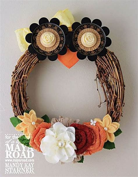 fall owl decorations 20 awesome diy fall door decorations hative