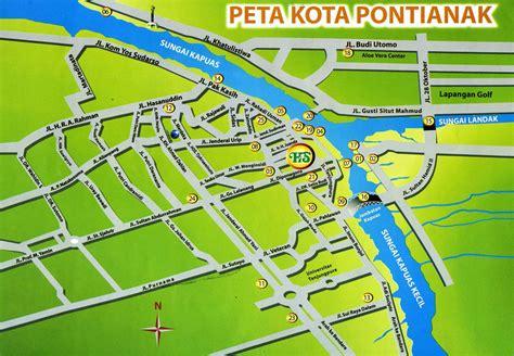 pontianak map santika hotel pontianak indonesia in indonesia