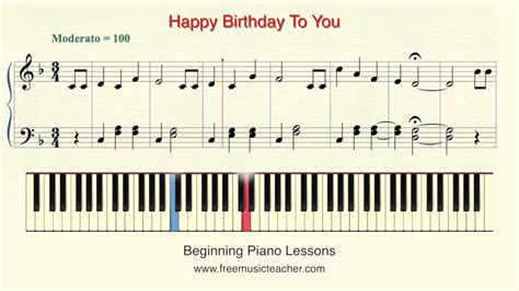 keyboard tutorial happy birthday how to play piano with solfege lesson 17 quot happy birthday