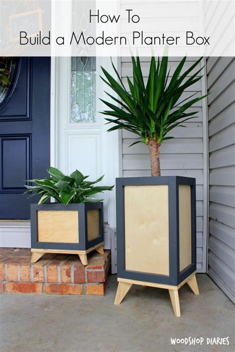 Diy Modern Planter by How To Build A Diy Modern Planter Box From Wood Scraps