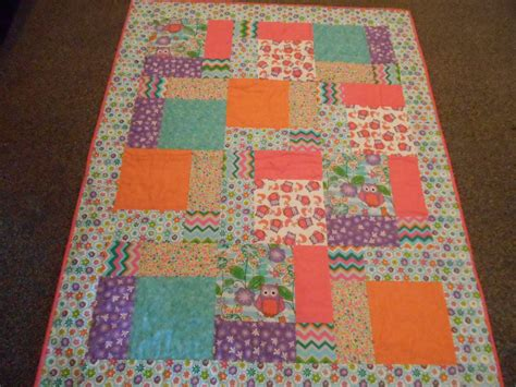 What Size Is A Baby Quilt by Crib Size Quilt Baby Quilt Nursery Bedding Owls And Flowers