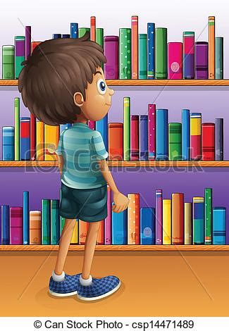 Reading Armchair Vector Of A Boy Searching A Book In The Library