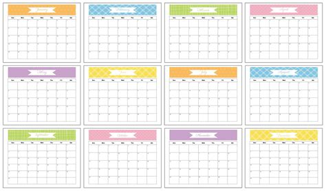 calendar with space to write printable calendar template