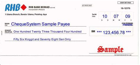Cheque Returned Refer To Drawer by Cheque Sle Malaysia Check Cheque Writer Software Check