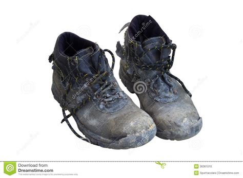 used shoes used shoes stock photo image of seedy cracked boots