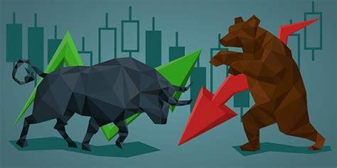 bullish and bearish trends of rising and falling market