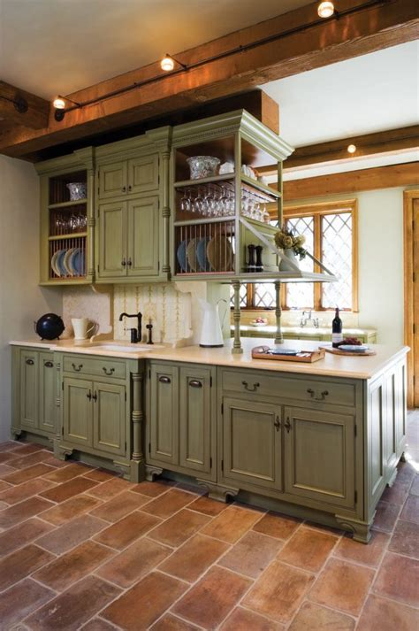 san francisco sage green kitchen mediterranean with brown