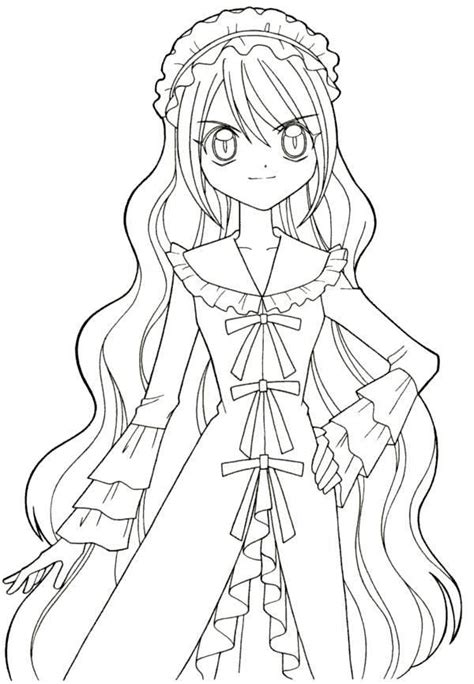 net animation coloring page cute anime girl coloring pages gianfreda net