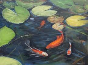 Koi pond painting paintings 2010 canvas and camera