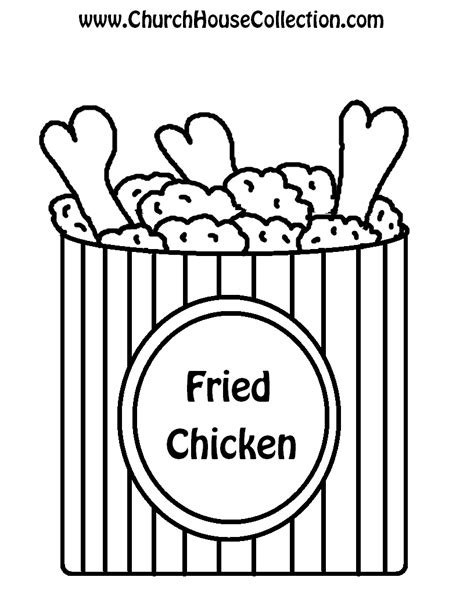 chicken supper coloring page fried chicken not chicken to praise jesus template