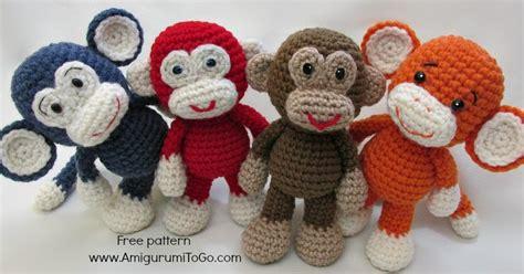 amigurumi pattern monkey little bigfoot monkey revised pattern video tutorial