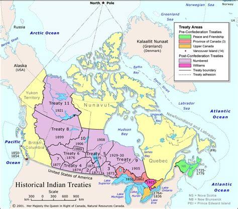 canadian map of indian tribes aboriginal treaties webquest