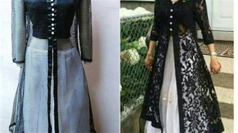 dress design and cutting designer long dress with open front jacket front slit