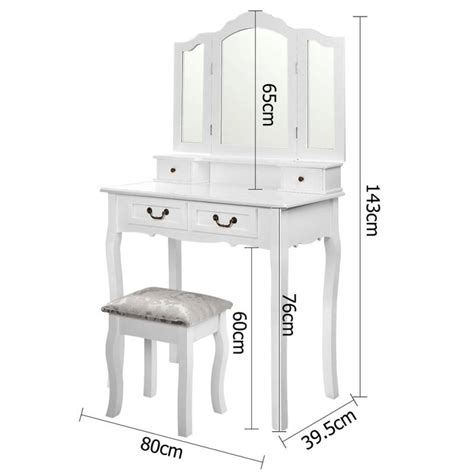 Dressing Table Stool And Mirror by 4 Drawer Dressing Table W Mirror Stool In White Buy Dressing Tables