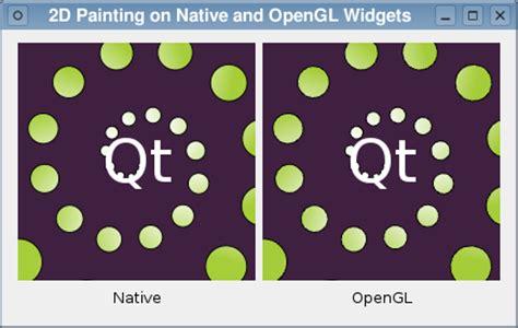 Qt Opengl Tutorial 2d | 2d painting exle qt opengl