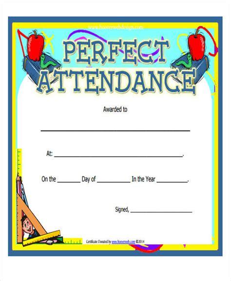 32 Printable Award Certificates Sle Templates Attendance Award Template