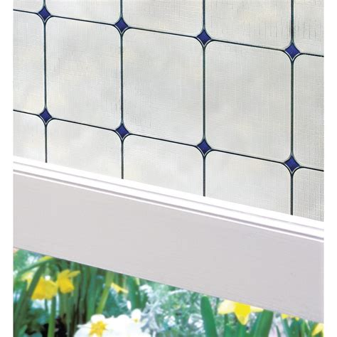 decorative window film home depot artscape 24 in w x 36 in h sapphire decorative window