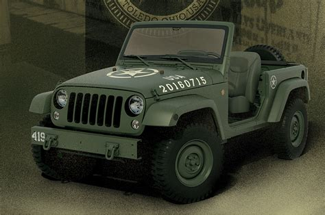 modern army jeep wrangler 75th salute military jeep concept revealed video