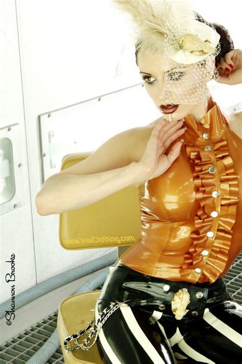 latex ruffles tutorial metallic gold latex top by vex