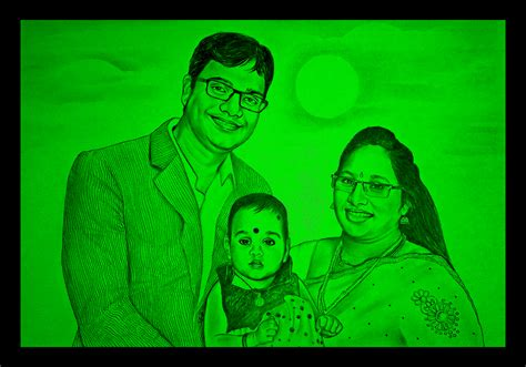 glow in the paintings india glow painting portrait sketch drawing artnvn