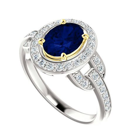8x6mm oval blue sapphire vintage inspired