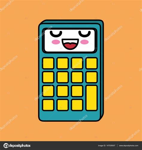 imagenes de matematicas kawaii calculadora matem 225 ticas personaje kawaii vector de stock