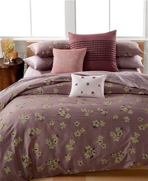 calvin klein delphine floral print queen comforter set