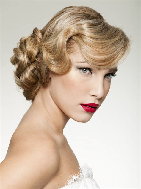 rosemary clooney look and an updo that creates the impression of a shorter hairstyle