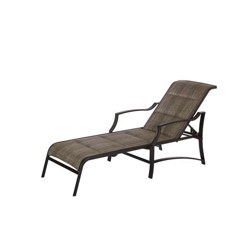 the chaise hton bay middletown patio chaise lounge with chili