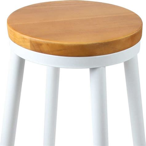 Stackable Wooden Bar Stools by 2x Wooden Stackable Seat Bar Stools In White Buy