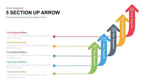 arrow diagram 5 arrow section diagram slidebazaar