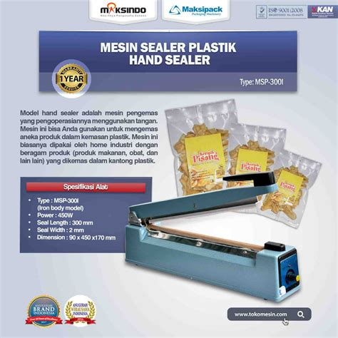 Jual Sealer by Jual Mesin Sealer Msp 300i Di Semarang Toko Mesin