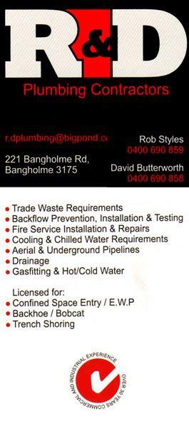 R D Plumbing by R D Plumbing Contractors Bangholme David Butterworth Reviews Hipages Au