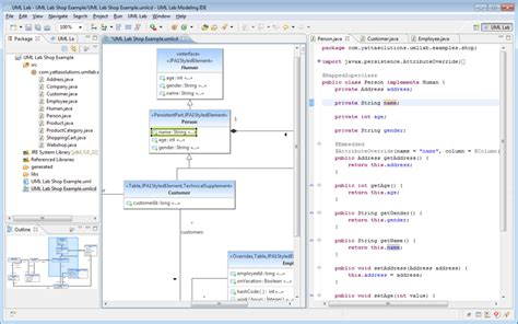 uml diagram to java code modeling ide yatta solutions