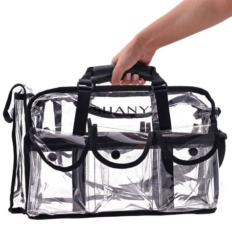 Cosmetic Travel Bag Organizer Tas Pouch Kosmetik Hello Ori clear makeup bag pro mua rectangular bag with shoulder