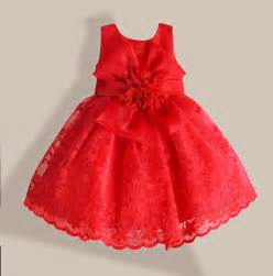 christmas baby dress red lace flower embroidery kids