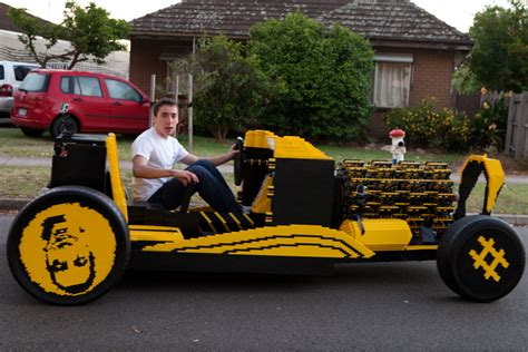 world s size lego car can hit 20 mph powered by 256 cylinder compresed air