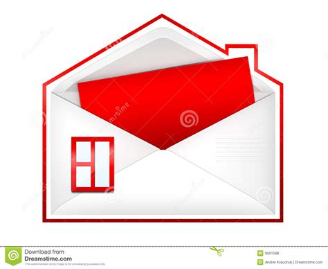 envelope house envelope house royalty free stock photos image 9561098