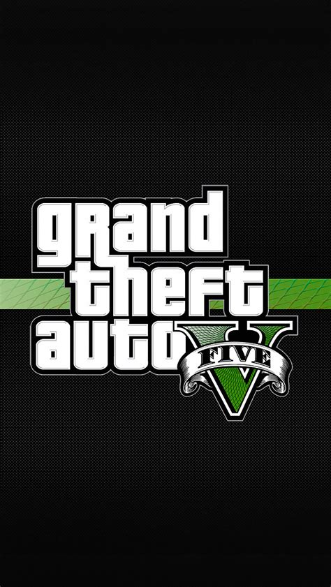 Gran Theft Auto 5 Logo by Grand Theft Auto 5 Logo Iphone 5 Wallpaper 640x1136