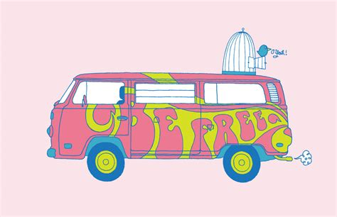 hippie volkswagen drawing image gallery hippie van drawing