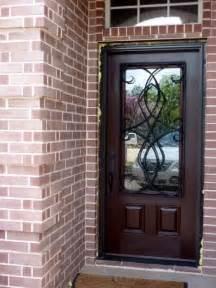pella door with wrought iron front entry doors