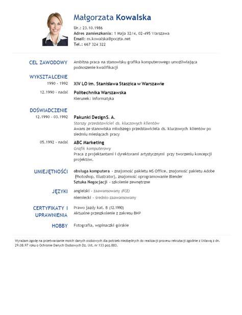 format zdjecia cv kreator cv online w 5 minut gotowe wzory cv